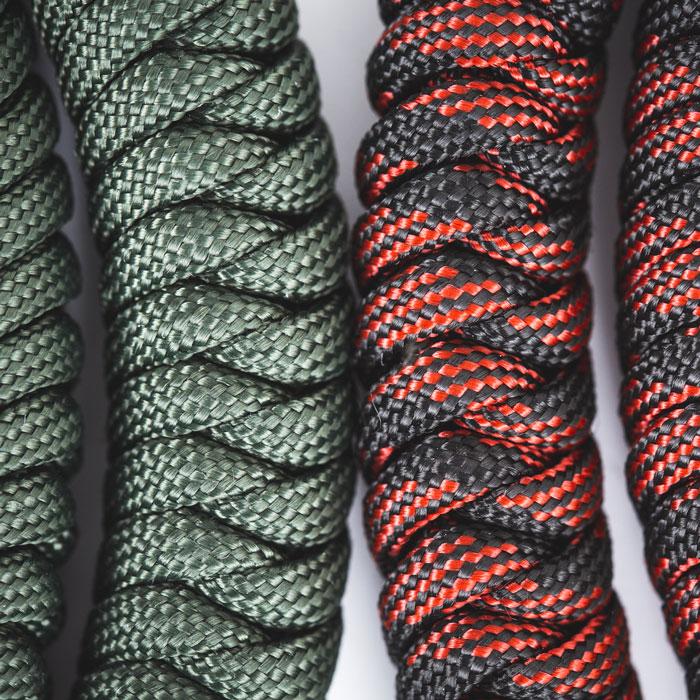 Paracord Seil ist sehr flexibel und angenehm zu tragen, trocknet schnell und rottet nicht, wie herkömmliche Seile